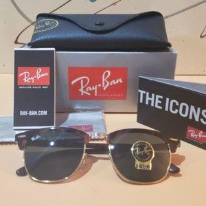NEW Ray-Ban Tortoise Clubmaster Classic RB3016